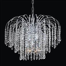 waterfall crystal chandelier cascade 532t glow 174 lighting