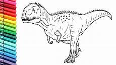 Ausmalbilder Dinosaurier Fleischfresser New Dinosaur Drawing And Coloring For How To Draw