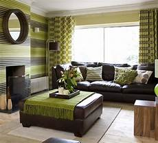 Home Decor Ideas With Brown Couches by Green Brown Living Rooms Living Room Decorating Ideas