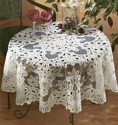 Tischdecke 160 Rund - tischdecken rund 100 baumwolle aus gestickter spitze