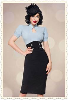 jupe crayon taille haute corset pin up vintage doria