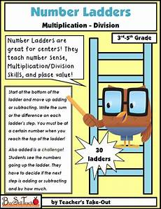 division ladder worksheets 6260 number ladders guided math number sense multiplication and division