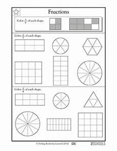 fraction math worksheets 3rd grade 4028 3rd grade math worksheets fractions coloring parts of shapes greatschools