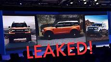 ford scout 2020 new 2020 ford bronco leaked everything you need to