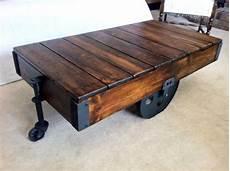 Factory Cart Coffee Table Diy hometalk diy factory cart coffee table