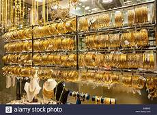 dubai dubai united arab emirates the gold souk so much gold in gold jewelry in the deira gold souk market dubai united