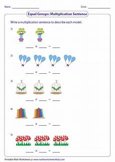 writing addition and multiplication sentences worksheets 22118 multiplication models worksheets
