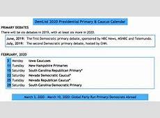 2020 primary schedule democratic party
