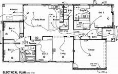 electrical plan house plans 42863