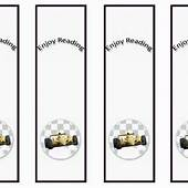Cars Bookmarks – Birthday Printable