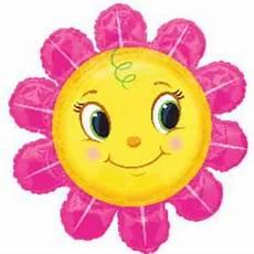 Malvorlagen Blumen Mit Gesicht Smiley Gesicht Blume Folienballon 75cm Luftballon Shop