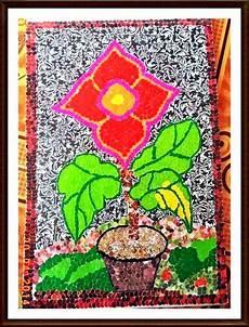Gambar Mozaik Bunga Dari Kertas Gambar Bunga