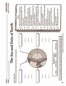 parts of the earth printable worksheets 14451 the ins and outs of earth worksheet earth science lessons science worksheets earth and space