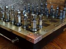 steunk schachbrett schachbretter kunst aus metall