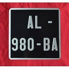 Plaque Immatriculation Vespa Lambretta 170 X 170