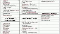 checkliste urlaub alles im checkliste f 252 r den urlaub frag mutti