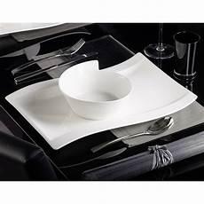 Assiette Gourmet Porcelaine Blanc Lot De 4 New Wave
