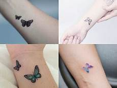 Schmetterling Handgelenk - beautiful small and delicate tattoos for