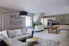 décoration séjour salon faux plafond salon avec spot