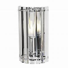 zenith wall light chrome glass 23cm