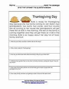 thanksgiving short reading math comprehension passage reading comprehension passages
