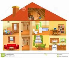 Teile Des Hauses Vektor Abbildung Illustration
