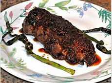 korean style marinated skirt steak with grilled scallions_image