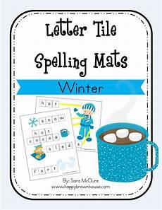 winter letter worksheets 20040 winter letter tile spelling mat free printable happy brown house