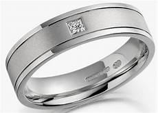 mens white gold wedding rings square diamond