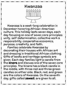 kwanzaa reading passage free sle by life in the library tpt