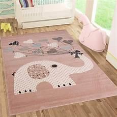 kinder teppiche fashion4home kinderteppiche elefant mit herzen ballons