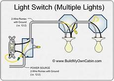 image result for wiring a light switch to multiple lights and plug light switch wiring home