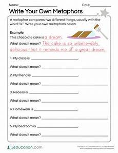 what is a metaphor worksheet newatvs info