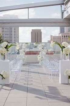 Decorations For Rooftop by Picture Of Modern Rooftop Wedding Aisle With White Flowers