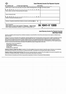 form ia 1041 v iowa fiduciary income tax payment voucher