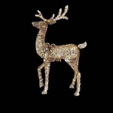Outdoor Lighted Reindeer Decorations by Home Accents 60 In Led Lighted Gold Pvc Animated