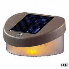 hton bay deck outdoor led solar fence light discontinued 10231 the home depot