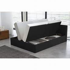 lit complet 140x190 cosmo lit complet avec coffre noir 140x190 cm achat vente lit pas cher couleur et design fr