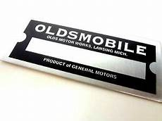 oldsmobile gm division co vin trim number plate tag paint code serial ebay