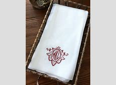 Inspirations: Monogrammed Hand Towels With Soft And Smooth