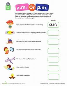 telling time worksheets using am and pm 3220 telling time a m or p m grade math worksheets grade math math