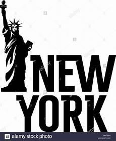 schriftzug quot new york quot und die freiheitsstatue t shirt