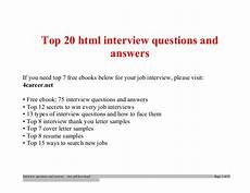 top html interview questions and answers job interview tips