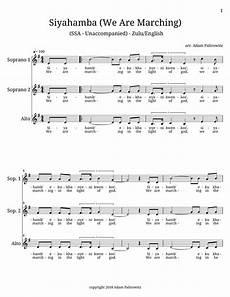 siyahamba sheet music siyahamba ssa choral clarity