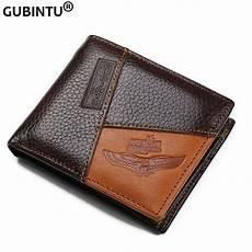 gubintu genuine leather wallets coin pocket zipper