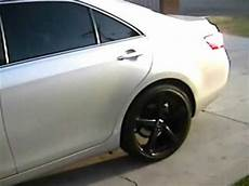 2008 toyota camry with 20 quot rims and carbon fiber door