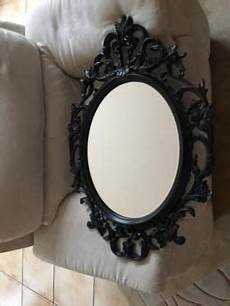 schwarzer spiegel toller schwarzer spiegel oval ca 85 x 59 cm in mitte