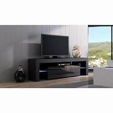 meuble tv spider 224 led en mat noir avec porte noir laqu 233