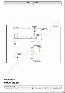 auto manual repair 1985 audi 5000s interior lighting audi 5000s 1985 c2 system wiring diagram 24 pages