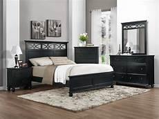 Schlafzimmer Schwarzes Bett - homelegance sanibel bedroom set black b2119bk bed set at